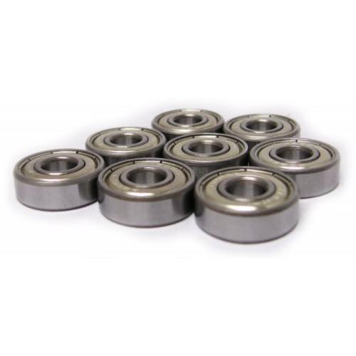 Ložiska ABEC 7 ocelové krytí